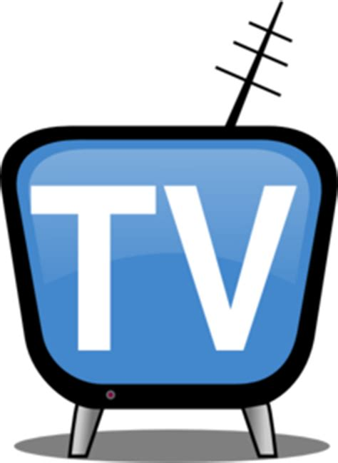 Blue Outline On Tv by Television Tv Icon Clipart Clipartfest Clipartix