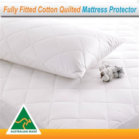 Cotton Quilted Mattress Protector by Cotton Quilted Aus Made Fully Fitted Bed Mattress