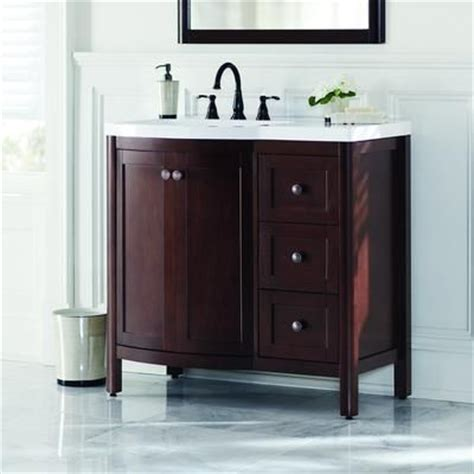 Home Depot Bathroom Vanities Canada by Home Decorators Collection Madeline 36 Inch Vanity Combo In Chestnut Md36p2c Cn Home Depot