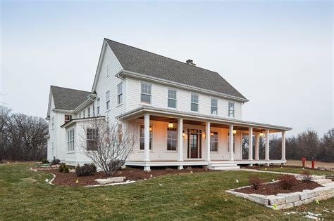 traditional farmhouse lake elmo greek revival farmhouse traditional exterior