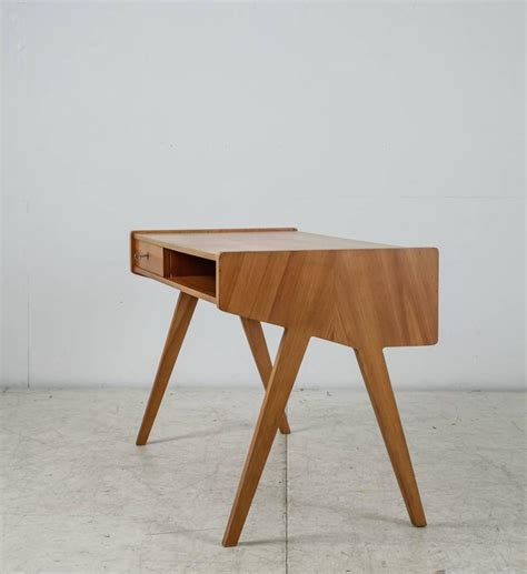 Helmut Magg Small Wooden Writing Desk Germany 1950s At Small Wood Writing Desk