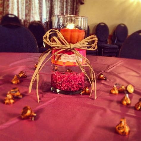 fall baby shower centerpiece pumpkin baby