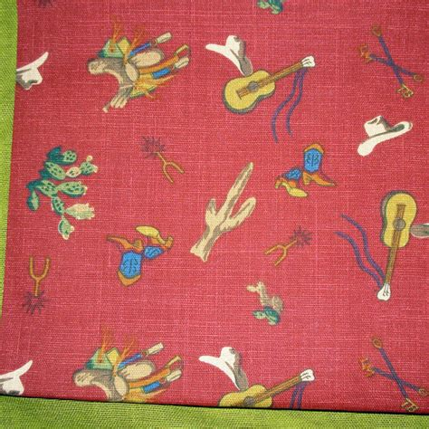 cowboy upholstery fabric western fabric saddle up by waverly cotton print by