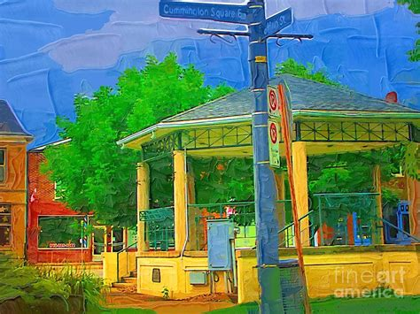 gazebo artist gazebo in chippewa painting by deborah macquarrie haig