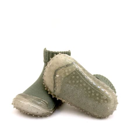 buy olive plain clear sole  skid proof shoes tickle toes