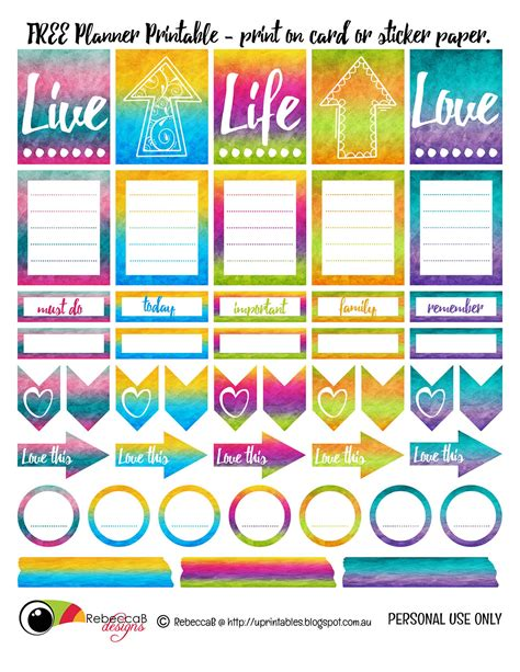 free printable planner design rebeccab designs free printable planner stickers
