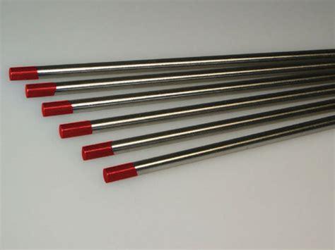 Tungsten Elesctrodes 24 Mm 1 6mm tip tungsten electrodes steel 2 thoriated