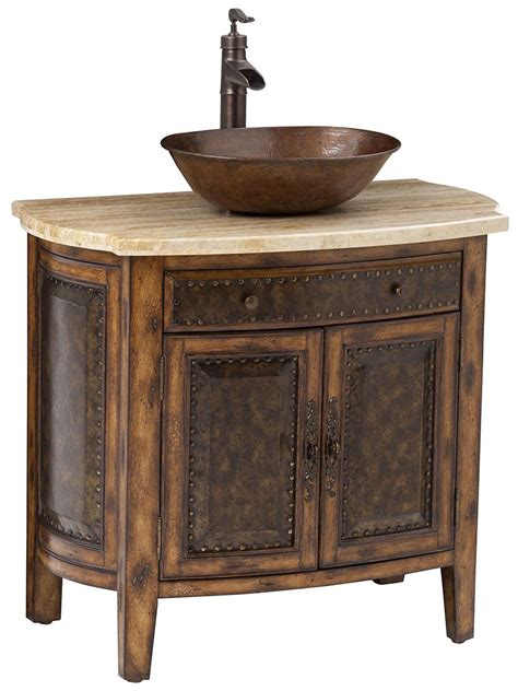 bathroom vanity cabinets for vessel sinks 36 quot rustico single vessel sink bath vanity