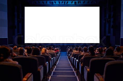 A Place Cinema Empty Cinema Screen With Audience Ready For Adding Your Picture Screen Has Crisp Borders