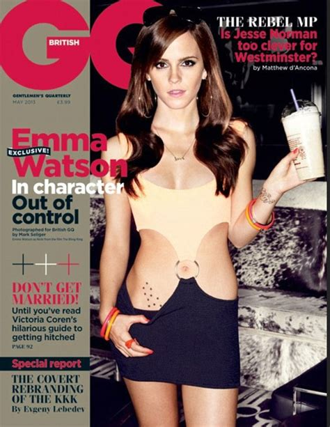 Emma Watson's sexy GQ cover copies Julia Roberts' Pretty Woman cut out dress   Daily Mail Online