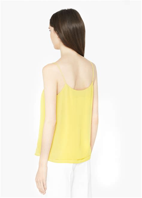 Flowy Baloon Sleeve Top mango flowy top in yellow lyst