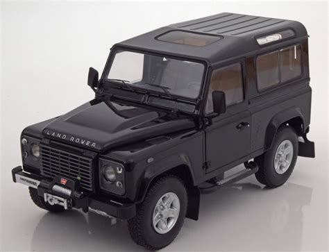 Land Rover Defender 90 Car Model In Scale 1 18 White Two Spare Tire 2 kyosho land rover defender 90 black model car 1 18 genuine