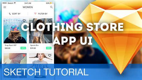 sketchbook ios tutorial sketch 3 tutorial clothing store app ui ios