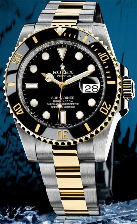 Premium Rolex Submarine Rs0011 Silver Combi Black rolex submariner two tone watches for 2009 i finally the fever ablogtowatch