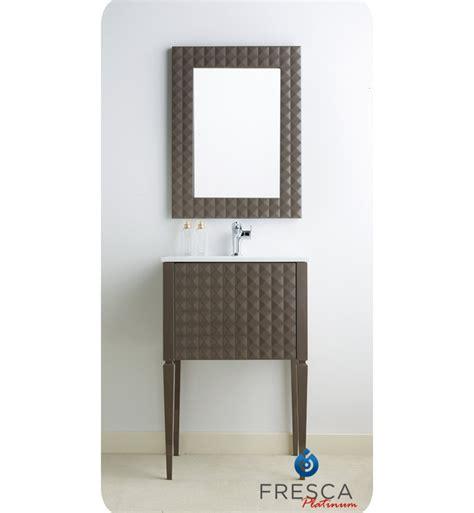 diamond bathroom vanity fresca platinum fpvn7724tg diamond 24 quot taupe gloss modern bathroom vanity