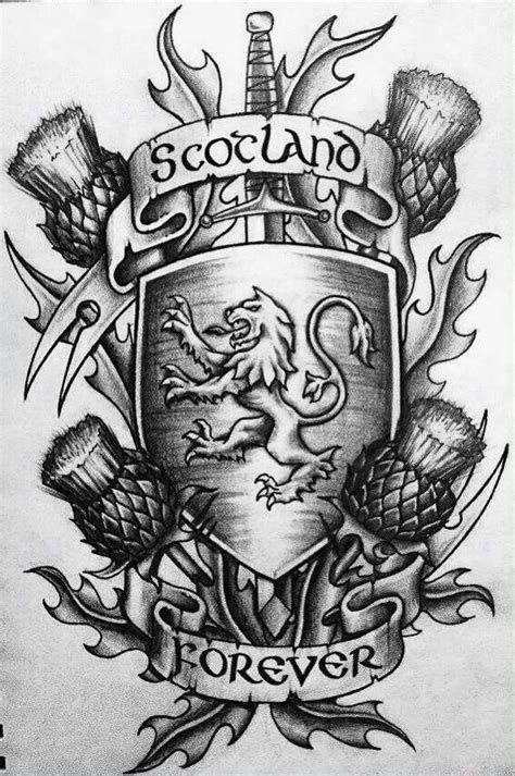 scottish thistle tattoo designs cool scottish design scottish ideas