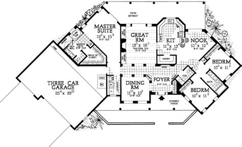 Sante Fe Style House Plans 2015 Square Foot Home 1 Best Family House Plans 2015