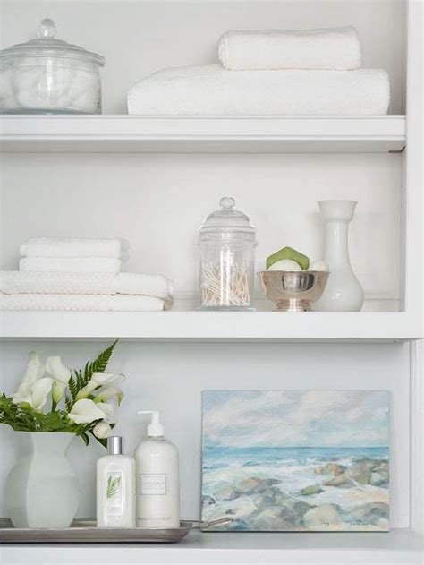 Open Bathroom Shelving Bathroom Open Shelving Accessorizing Bathroom Update Pinterest Open Shelving