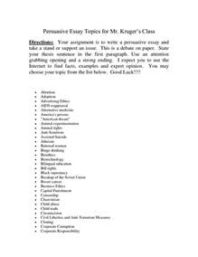 Topics To Write A Persuasive Essay On by College Essays College Application Essays Persuasive Essays Topics