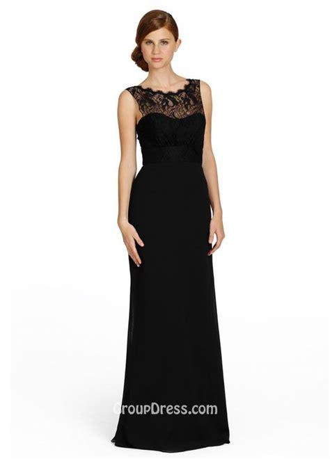 chiffon sleeveless long bridesmaid dress with