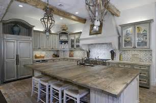 wood island tops kitchens rustic wood countertops kitchen ideas