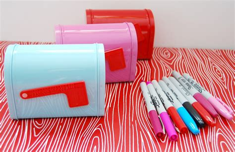 valentines day mailbox sharpie decorated s day mailboxes glam
