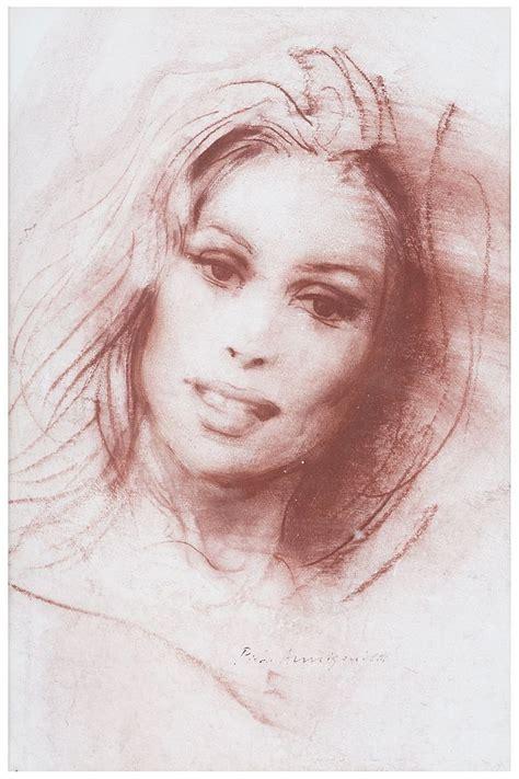 PIETRO ANNIGONI Ritratto Sanguigna su carta cm 27 x 18
