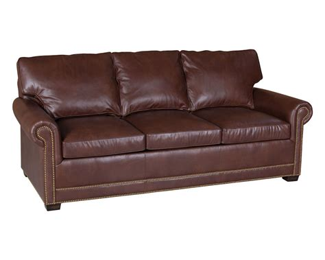 classic leather sofas classic leather larsen sofa sleeper 58 larsen sleeper sofa
