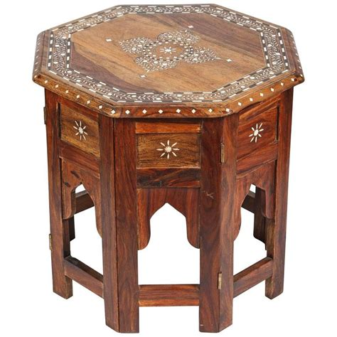 Indian Table L Anglo Indian Bone Inlaid Octagonal Side Table For Sale At 1stdibs