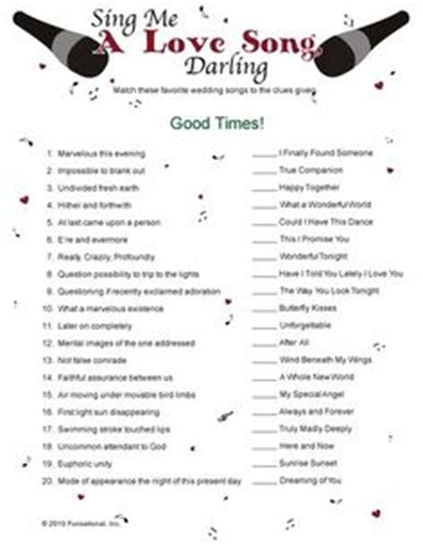 Wedding Song With Name by 1000 Images About Bridal Shower On