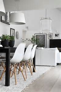 Black White Home Decor 15 Modern Dining Rooms For New Years 2015 Home Design