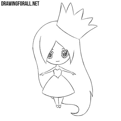 Drawing For by How To Draw A Chibi Princess Drawingforall Net