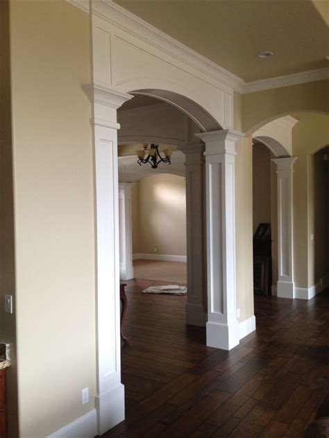 arched entry arched doors house trim house design