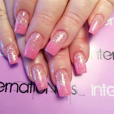 easy nail art glitter 25 glitter acrylic nail art designs ideas design
