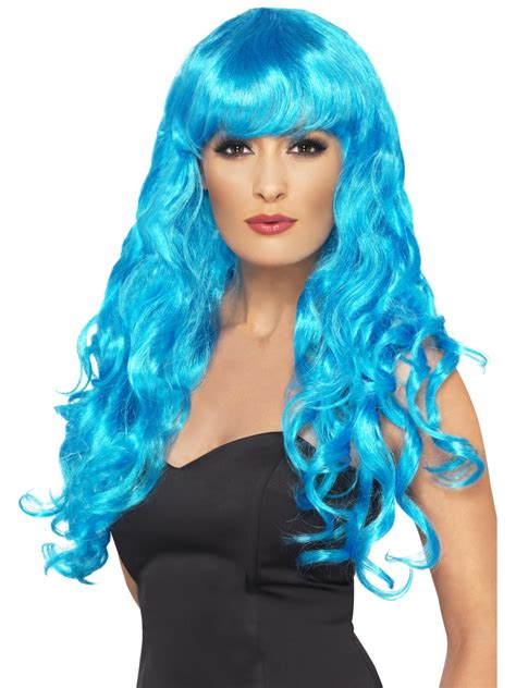 halloween fancy dress costumes scary masks and wigs ladies siren wig long curly fancy dress wig halloween wigs