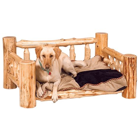 cedar dog bed cedar log dog bed w standard mattress