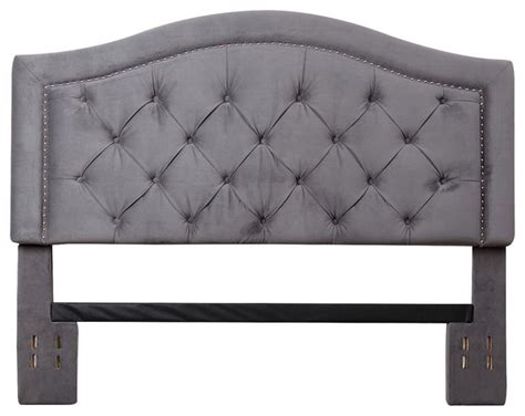 grey velvet tufted headboard hillsdale tufted grey velvet headboard full queen