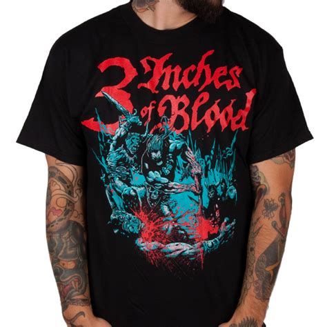 Barbarian Warrior T Shirt Size M 3 inches of blood quot barbarian quot t shirt 3 inches of blood