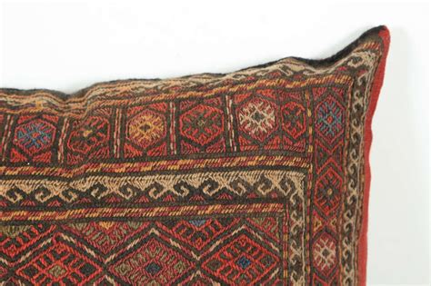 middle eastern turkish tribal kilim floor pillow for sale