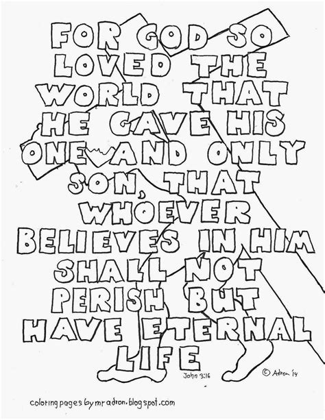 coloring page for god so loved the world coloring pages for kids by mr adron john 3 16 coloring