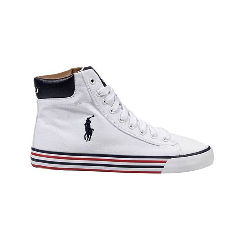 polo shoes polo ralph shoes harvey mid ne canvas boot in white