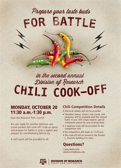 chili cook off flyer poster graphic designy pinterest
