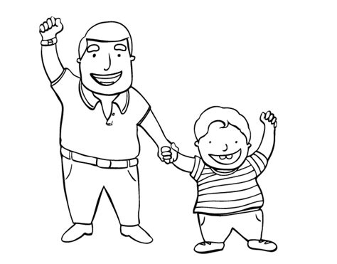 dad and son coloring coloring pages