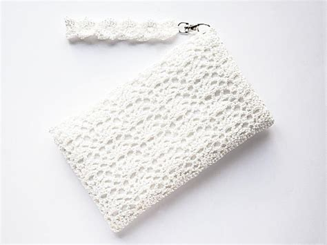 crochet lace bag pattern ivory bridal clutch bag bridal white lace purse