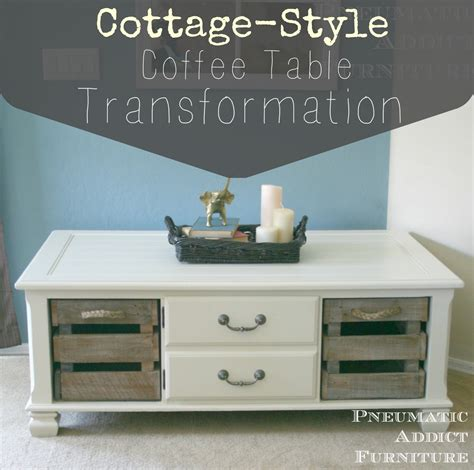 cottage style coffee tables cottage style coffee table transformation pneumatic addict