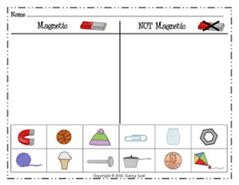 Magnets Worksheet by Grade A La Carte Magnets