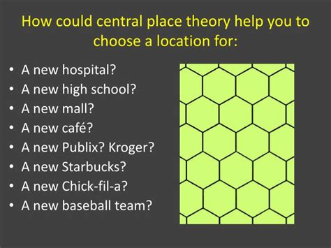 A Place Theory Ppt Central Place Theory And Applications Powerpoint Presentation Id 1114376