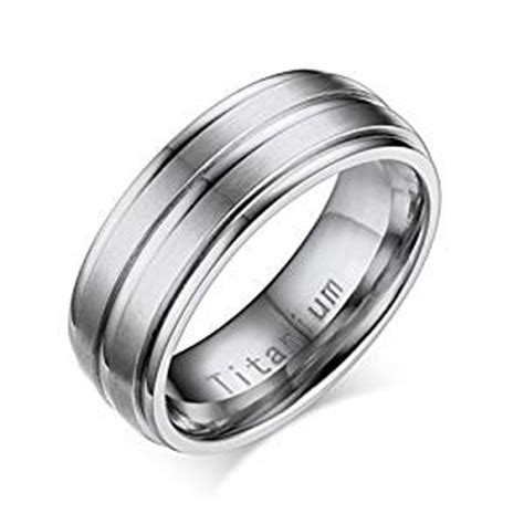 titanium ring for mens wedding band engagement promise