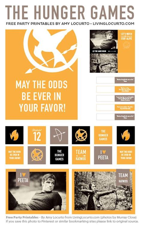 printable hunger games birthday invitations 7 best images of hunger games printables hunger games