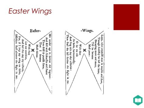 easter wings analysis the corruption of a text looking at geroge herbert s the